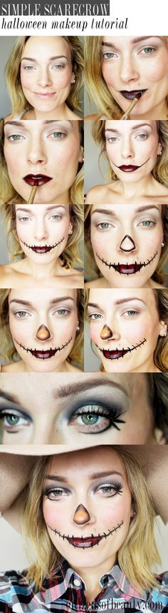 Simple Scarecrow Makeup for Halloween - Citizens of Beauty