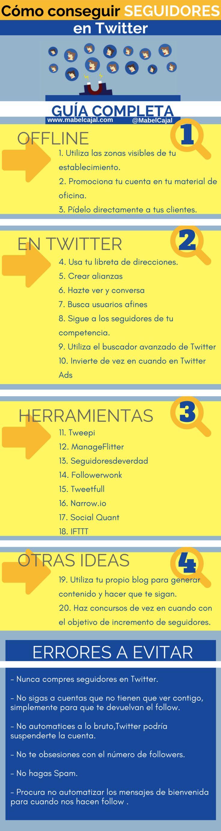 Cómo conseguir más seguidores en Twitter #infografia