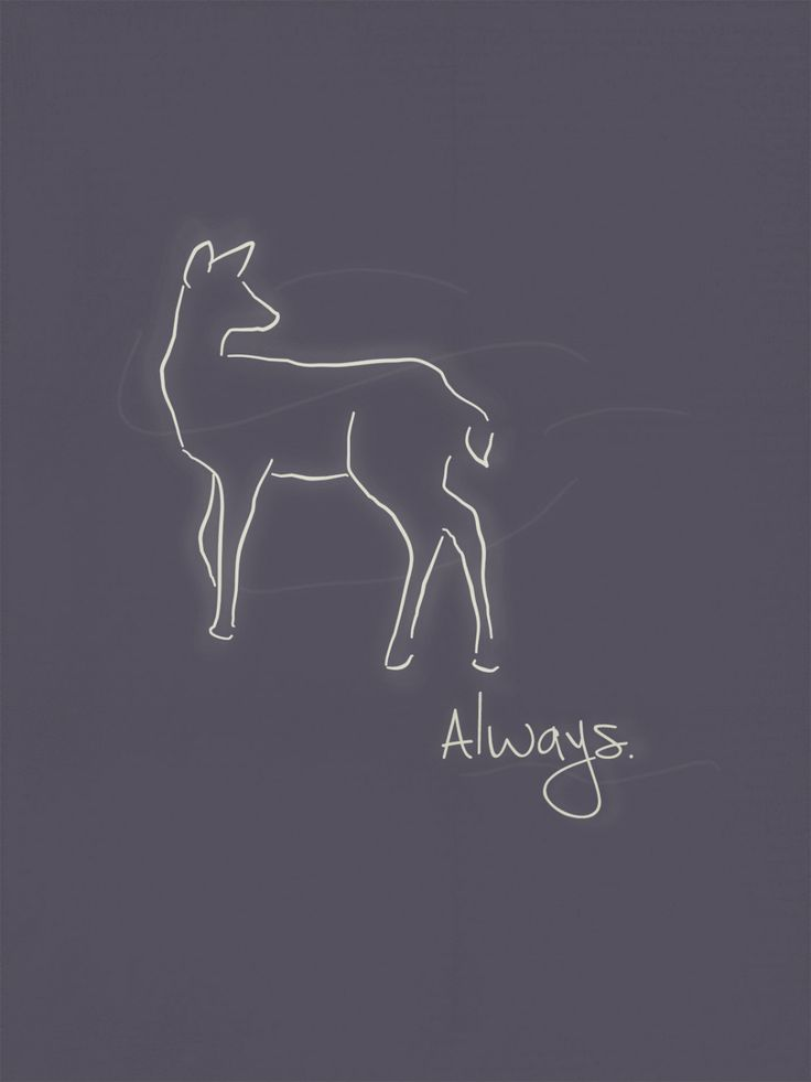 Always Print - Minimalist Doe Patronus Inspired by 8BitBanana on Etsy