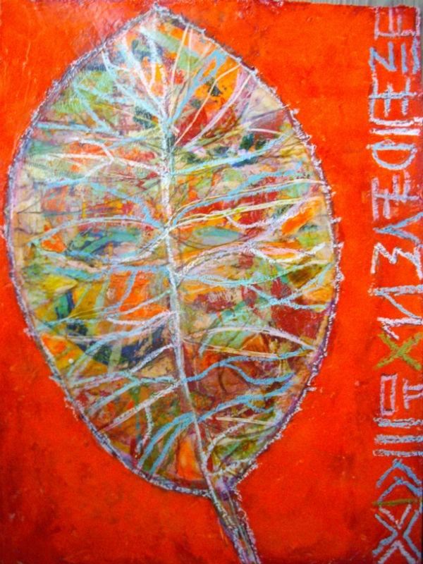 """365 art"""" by Elke Trittel: acrylic paint, pencils, stencils, oil pastels, inks, markers, gesso, & collage elements."