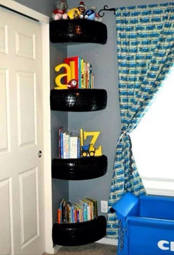 Like the corner shelves but maybe use driftwood instead