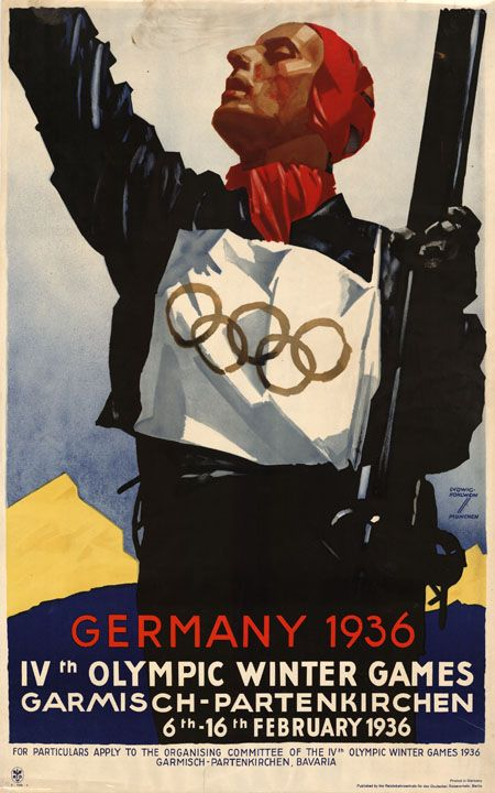 Germany 1936 Olympic travel poster - Ludwig Hohlwein