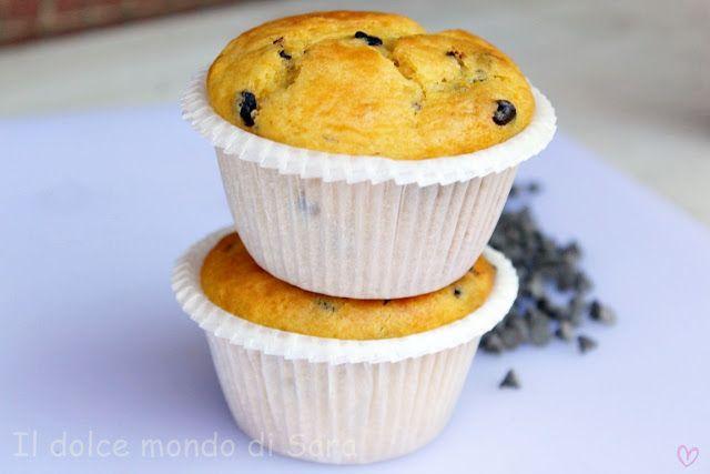ღ Il dolce mondo di Sara ღ: Muffins alla stracciatella con yogurt greco