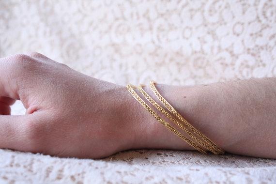 Thin Brass Bracelets by Prigkipo on Etsy, €13.00