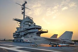 USS Yorktown.....amazing camping package; Boy Scouts can earn Aviation merit badge. Includes trip to fort. You sleep on the ship!