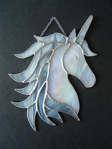 New-Stained-glass-Unicorn-suncatcher-magical-horse-fairytale-collectable-gift