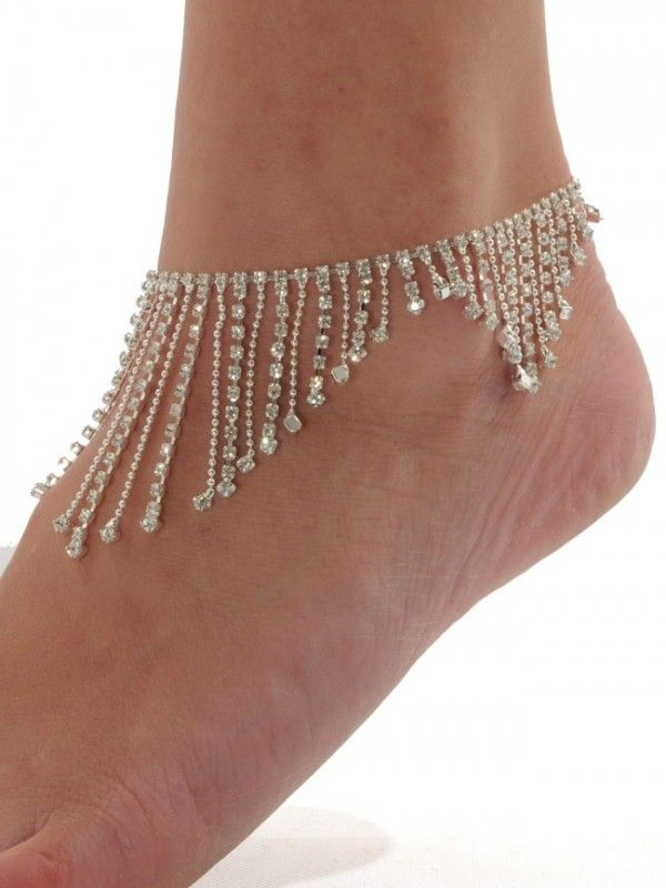 Insomnia Exclusive Lingerie Boutique | Dazzling Crystal Ankle Foot Chain for Woman Decoration Summer of Austrian Style-Silvery