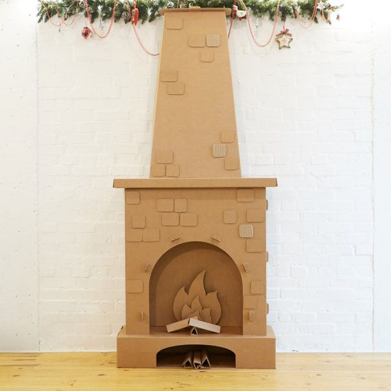 Cardboard Fireplace by MomsManufactureStore   Etsy