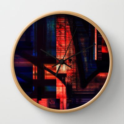 Abstraction Wall Clock by Jean-François Dupuis - $30.00