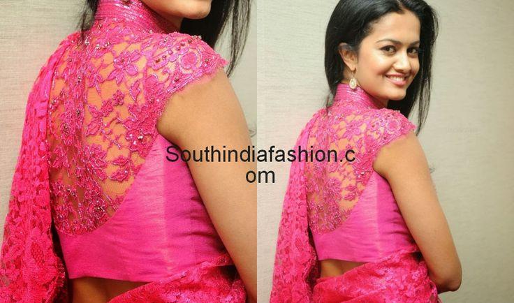 lace saree jacket designs - Google Search