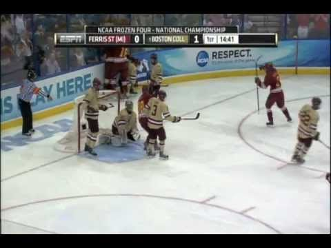 Ferris State National Championship goal against Boston College Eagles in the 2012 Frozen Four