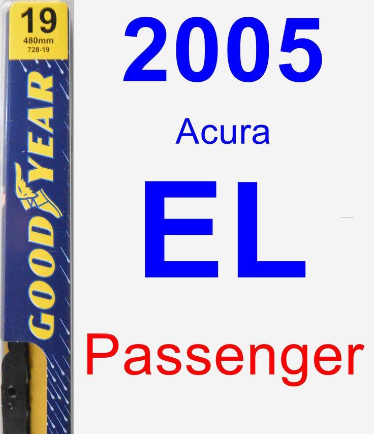 Passenger Wiper Blade For 2005 Acura EL - Premium