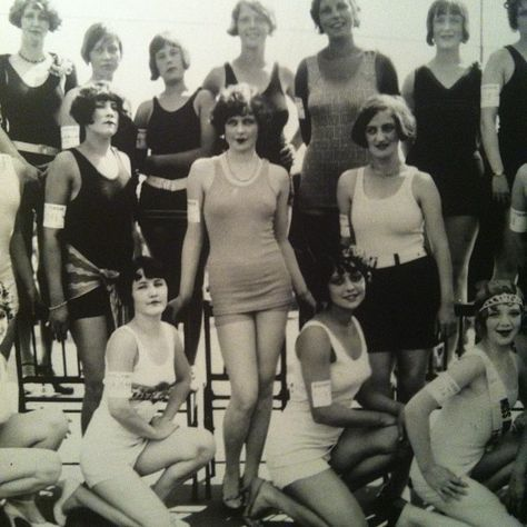 1920's scandalous attire.