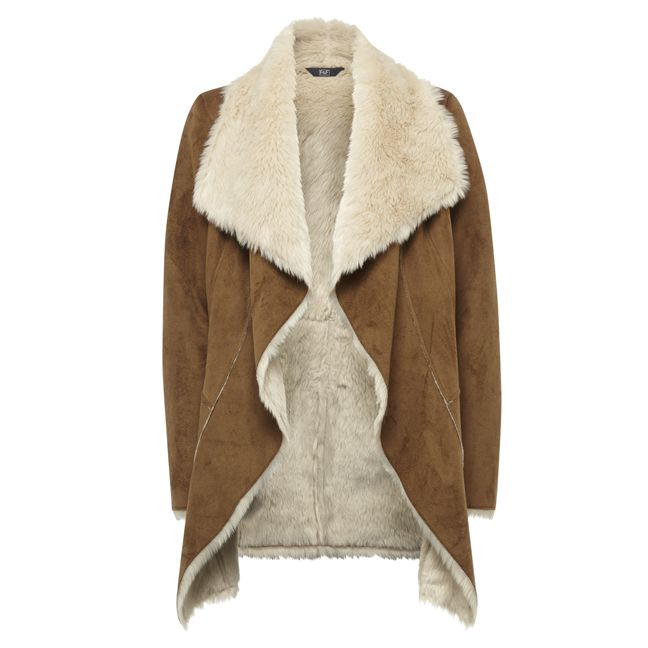kabát, levný kabát, dámský kabát, bunda, kožich, hnědý kabát, kabát s kožešinou : F&F