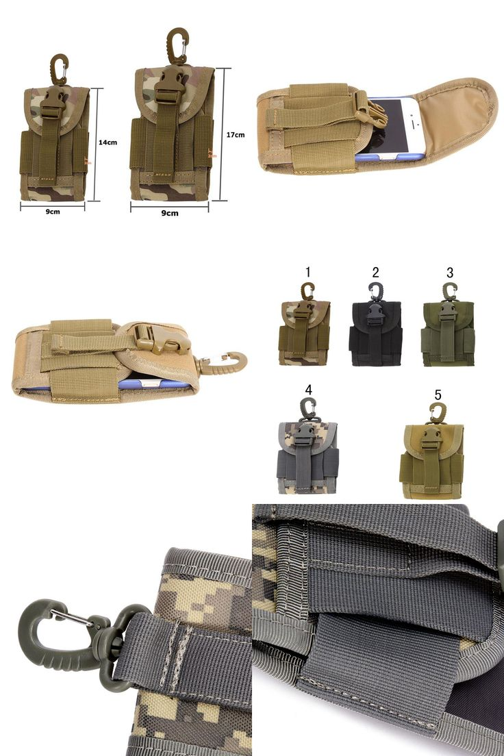 [Visit to Buy] High Quality 4.5 inch Universal Army Tactical Pouch Travel Kit  for Mobile Phone Cover of Backpacks Racksack Bag Hook Case #Advertisement