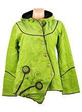 Manchesterový kabátek MUSHROOM, fleesová podšívka, Nepál - klikněte pro větší náhled