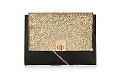 New Look Black and Gold Clutch
