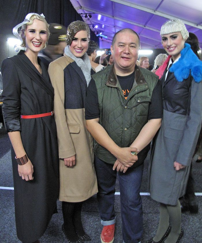 WORLD - Francis Hooper of World with models, A designer from Auckland, I love the vintage look of the clothing hair and make-up.