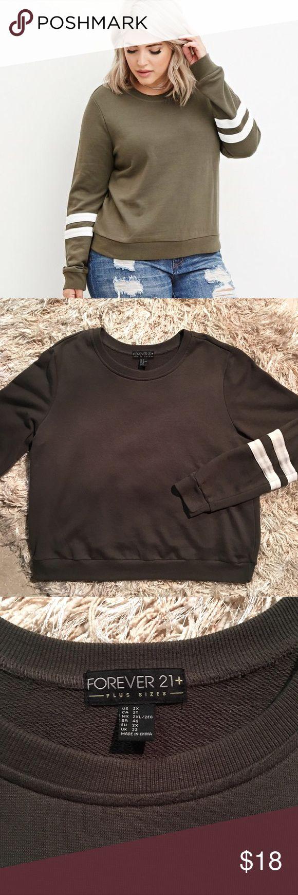 Forever 21 Varsity Striped Sweatshirt Forever 21 Plus Varsity Striped Sweatshirt. Size 2x. Excellent condition. Forever 21 Sweaters Crew & Scoop Necks