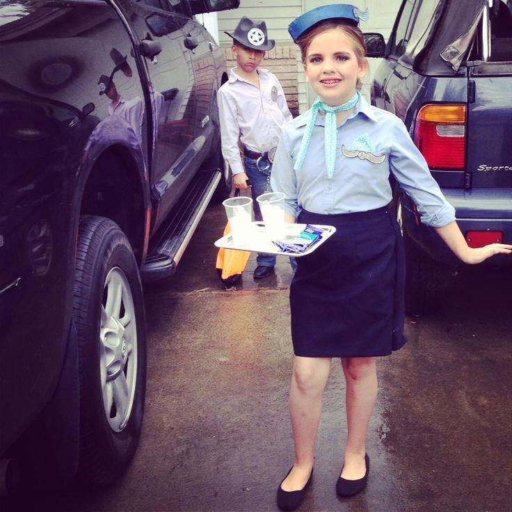 Halloween costume idea, flight attendant. Stewardess girl