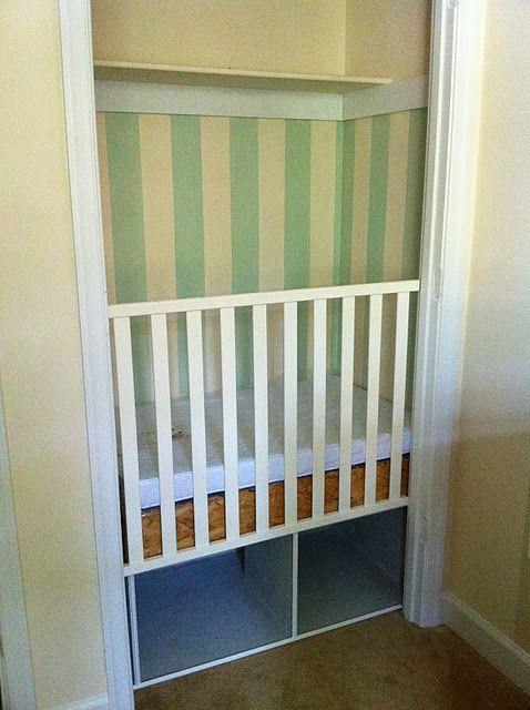 Dutch Cupboard Crib (okay, a crib built in the closet)