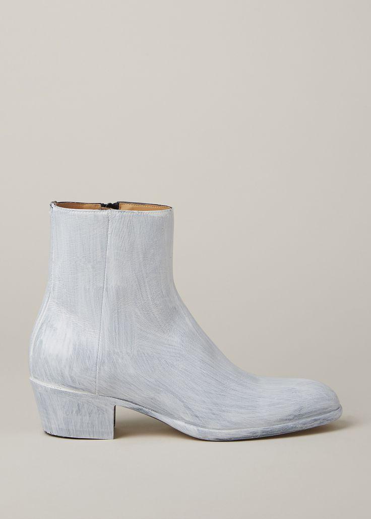 Totokaelo - Maison Margiela Black/Bianchetto Chunky Ankle Boot