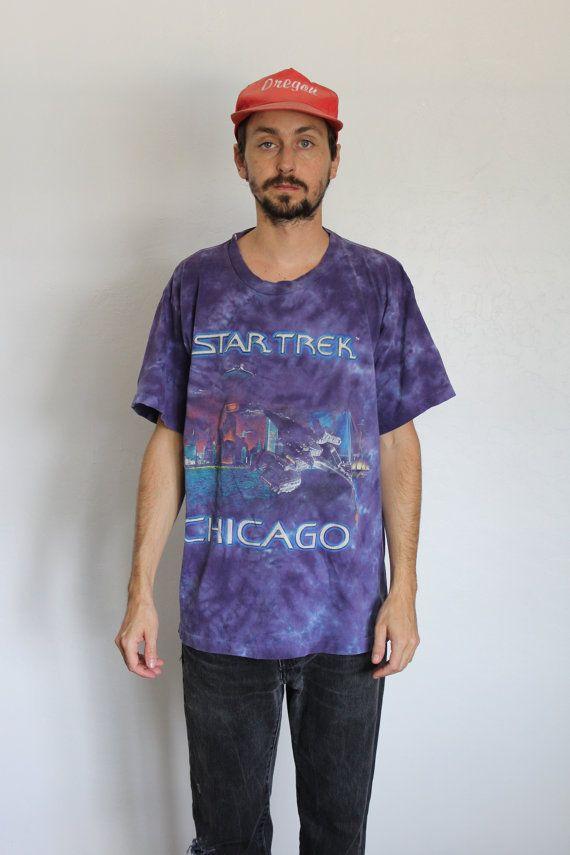 Star Trek Tie Dye Chicago Shirt Mens Large by FiestaForever