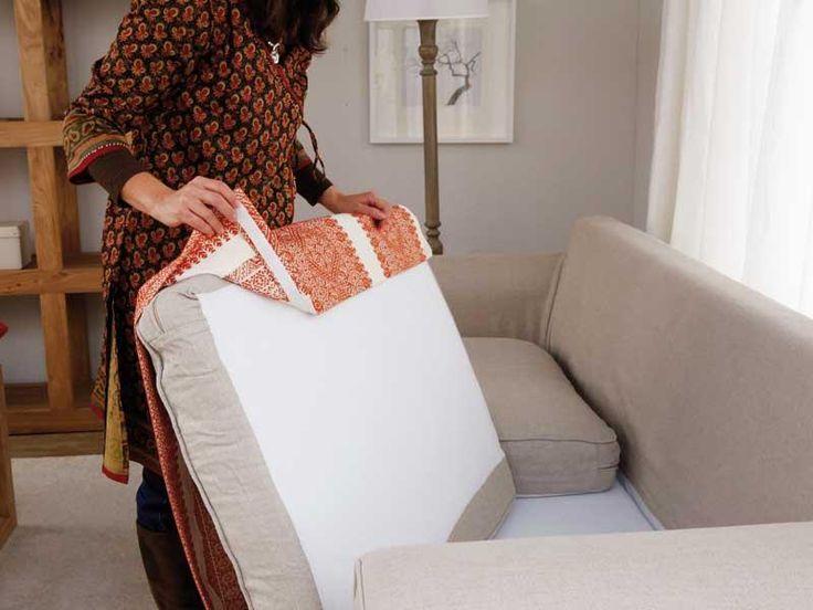 Renovar el sofá - Paso a paso - Ideas para ganar espacio, decoracion facil, reciclaje de muebles - Decoración práctica, ideas y consejos de decoración - CasaDiez