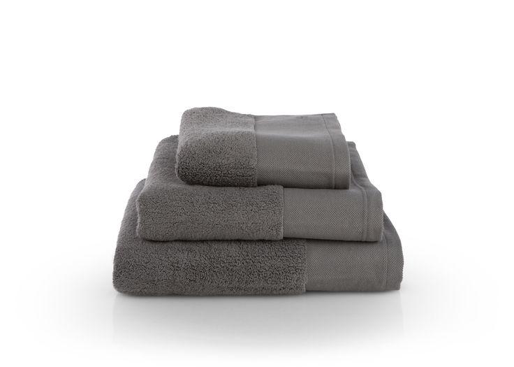 Aire Zero Twist 550 GSM Cotton Towels, Slate Grey
