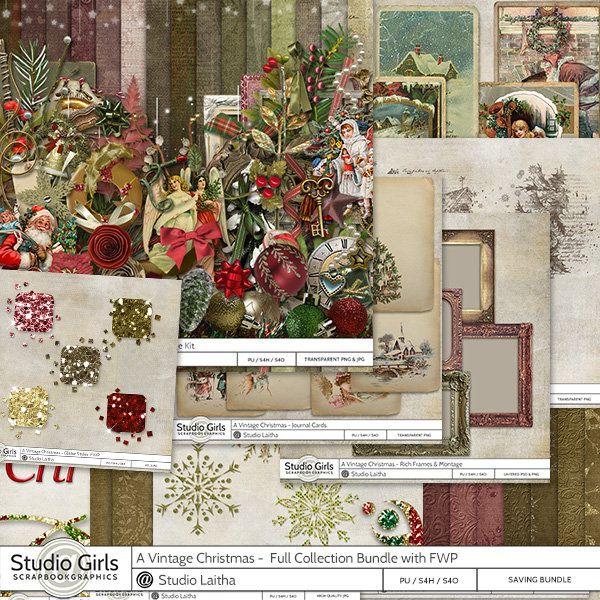 A Vintage Christmas by Laitha's Designs  Available @ http://shop.scrapbookgraphics.com/Laitha/