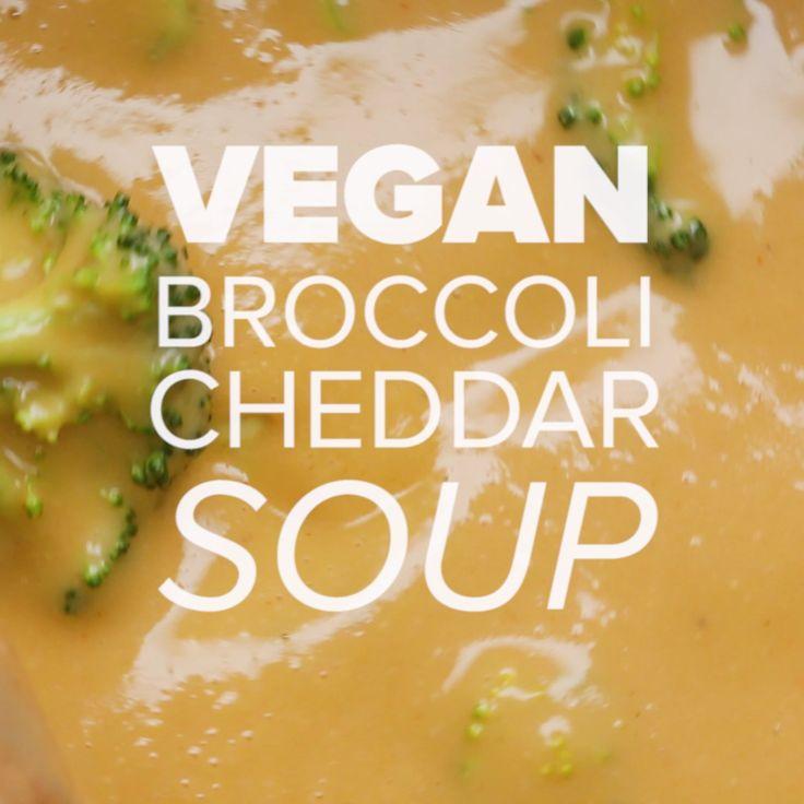 "The Creamiest Vegan ""Cheesy"" Broccoli Soup"