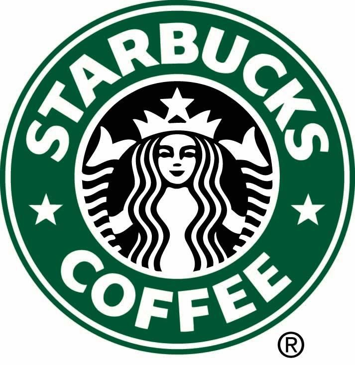 Like the McDonald's logo, the Starbucks logo is widely-recognize and is symbolic on its own.