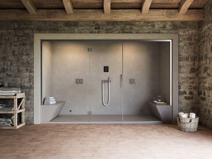 Dampfbad mit Dusche für Chromotherapie NONSOLODOCCIA by Glass 1989