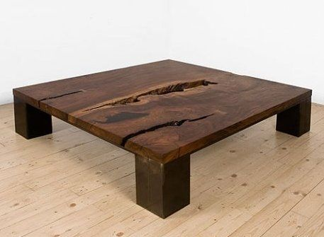 The Kong Table (pictured above), designed by Brooklyn's Uhuru Design, is a strong, classic coffee table offered in a variety of woods and finishes. Created from sustainably harvested and/or reclaimed wood – including reclaimed barrel staves and snow fence.
