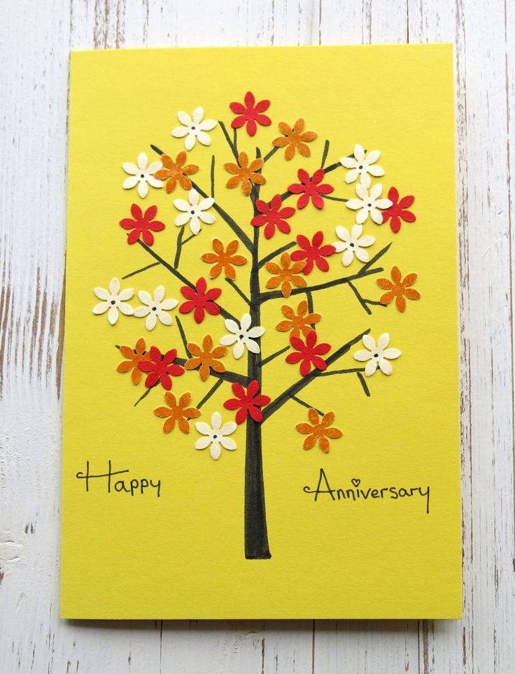Handmade card - Anniversary card - collage card -blank card - hand crafted - greeting card - uk seller by itsaMessyNest on Etsy