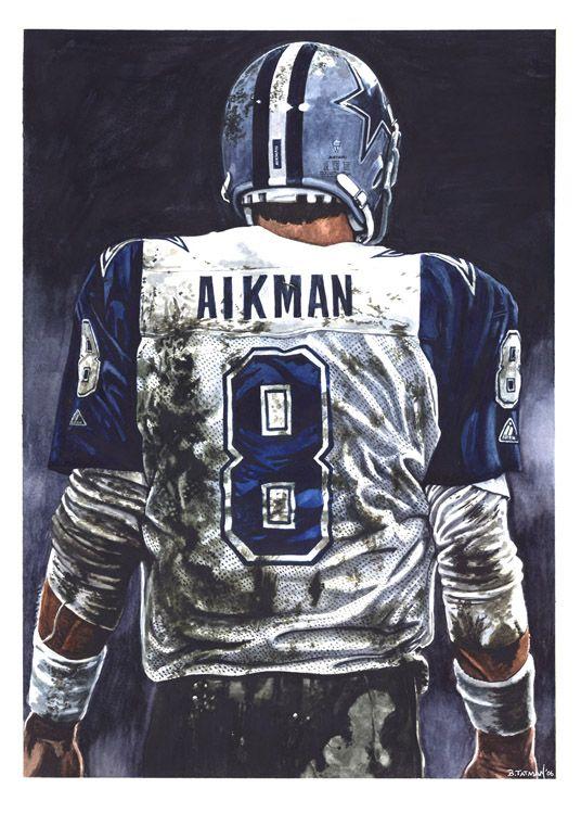 Troy Aikmen by artist Bruce Tatman