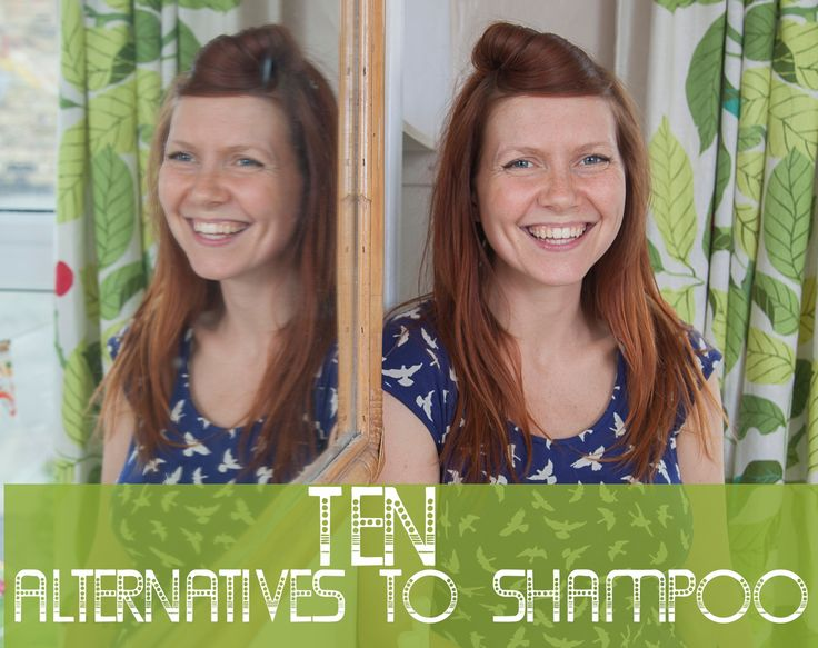 Natural and thrifty alternative shampoo ideas #nopoo