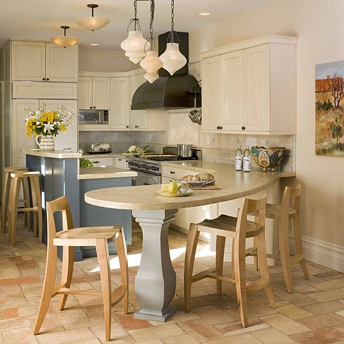 Galley Kitchen With Peninsula Small Space Design Kitchen Design Notes Picture