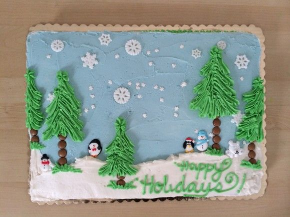 Winter Wonderland sheet cake.