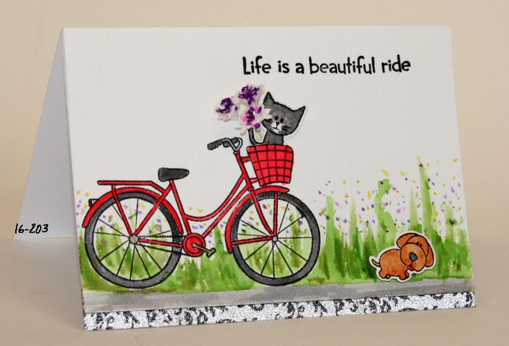 #SSS #SSS faves Simon Says Stamp Beautiful ride, watercolored with Distress inks