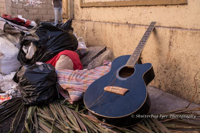 Guitar in the garbage