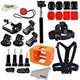 Christmas deals week  Kupton Accessories for GoPro Hero 5 Session/ Hero Session Mounts Bundle GoPro Camera Floaty Chest Harness Head... sale