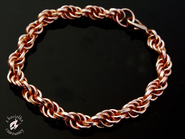 Z kociołka czarownicy: Jeszcze jeden sposób na spiralę - chainmaille Spiral bracelet of copper