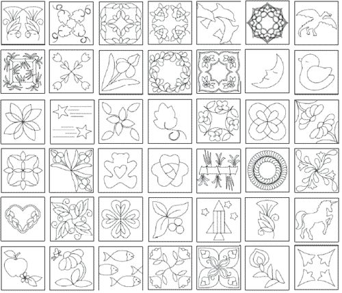 Free Hand Quilting Patterns | 10% off Printable Quilting Designs, The Quiltmakers Collection Vol 2