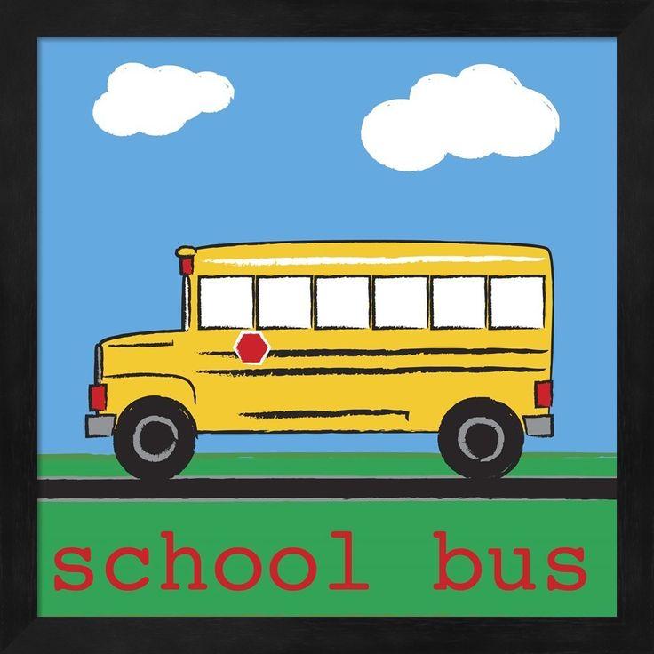 Melanie Parker 'School Bus' Framed Art