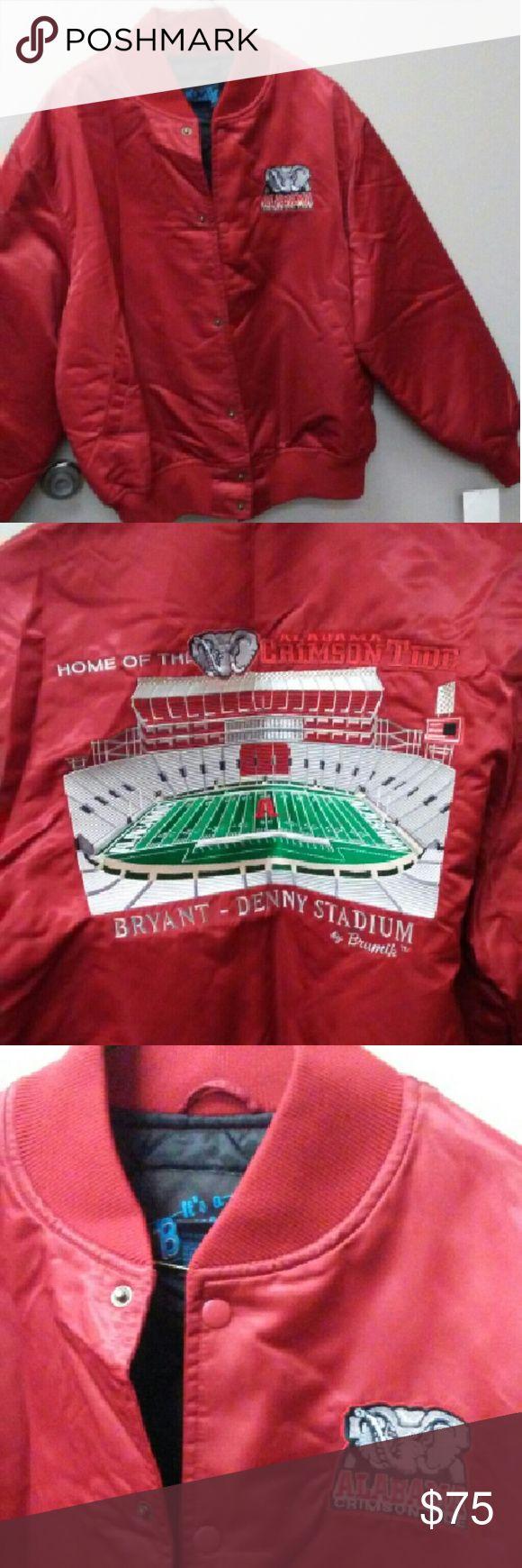 Nwt Alabama Crimson Tide jacket Neat stadium and team SEC championship jacket. Alabama has years of success in college football.  Awesome jacket??? Alabama. SEC Jackets & Coats