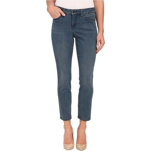 NYDJ Clarissa Ankle in Carlsbad (Carlsbad) Women's Jeans ($81) ❤ liked on Polyvore featuring jeans, blue, skinny leg jeans, ankle zipper jeans, nydj skinny jeans, super skinny jeans and skinny jeans