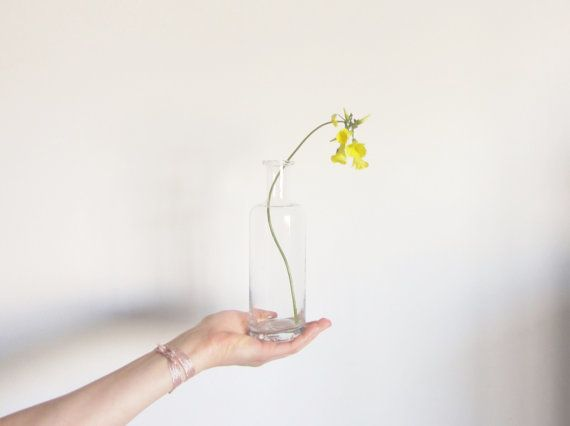 old glass bottle apothecary vase . what a beauty by DOTTO on Etsy