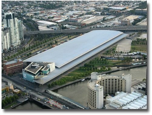 Melbourne Exhibition Centre and Polly Woodside at Southbank Victoria