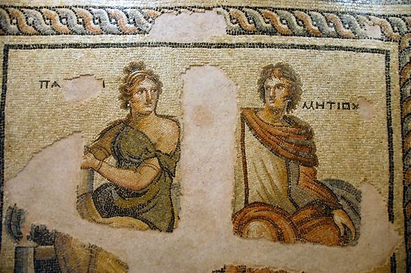 Zeugma mosaic of Parthenope & Metiochos